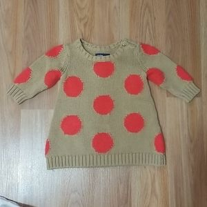 Sweater dress for baby girl